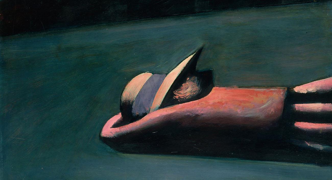 Charles Blackman. Prone figure (1953)