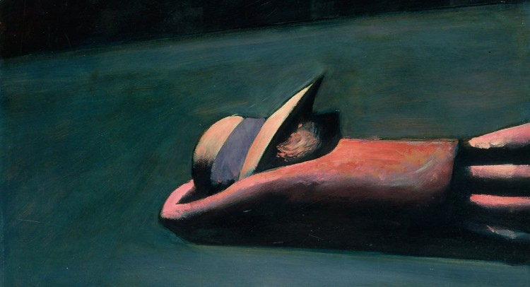 Charles Blackman. Prone figure (1953)